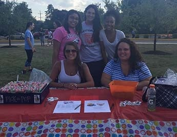 Social Work students at the Involvement Fair