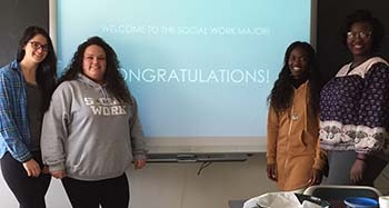 Newly accepted Social Work majors