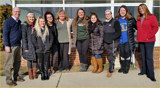 Neumann Students at Benedictine School
