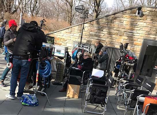 photo of Director Lesli Linka Glatter during filming of a Homeland episode