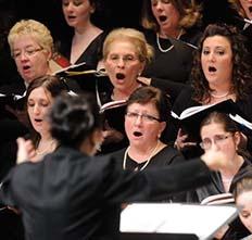 Photo of members of NU Concert Chorale
