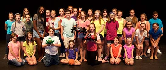 Cast members for James and the Giant Peach, Jr.
