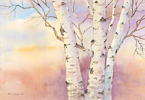 painting of tree by Marie Gilligan – Watercolors
