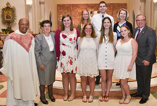 6 students join the church RCIA 2019