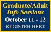 Click HERE to register for the October 11 & 12 Info Sessions