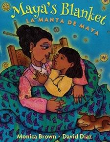 "Image of cover of ""Maya's Blanket"" the 2016 Bock Book Awardee"