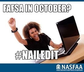 Reminder to fill out the FAFSA in October