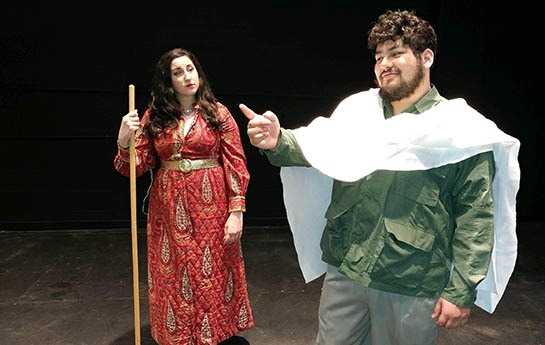 Photo of Deanna Stellabotte and Luis Giron in The Death of Pilate