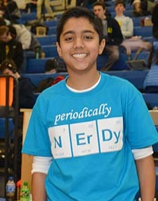 Photo of Garnet Valley Middle School student at Science Olympiad 2016