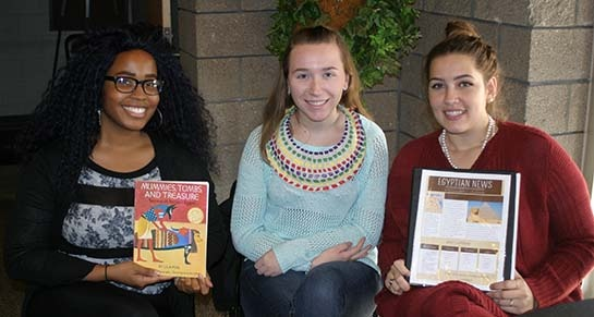 Photo of Kiera Scarbrough, Nicole Fantom, and Jacqueline Paxson