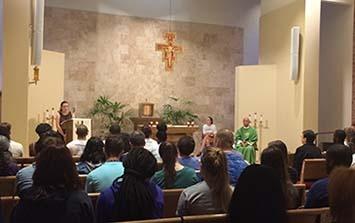 Mass in Sacred Heart Chapel