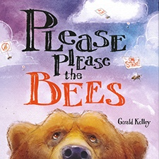"""Cover of """"please please the bees - Winner of the 2017 Bock Book Award"""