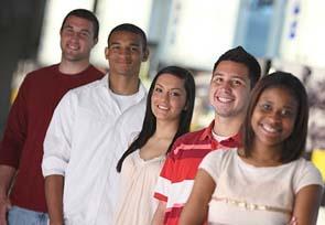 group of undergraduate students